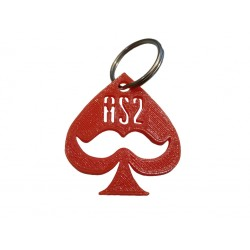 Porte Clef As2piK Orange imprimé en 3D
